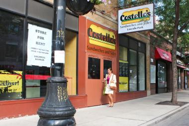 Costello's Sandwiches and the Uptowner Cafe, both in the 2200 block of North Lincoln Avenue, shut down earlier this year.
