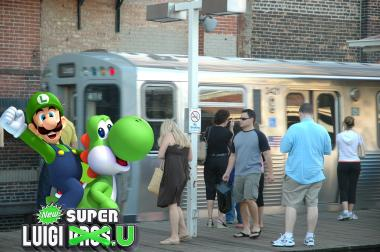 The Clark/Lake Brown line stop will get a Mario makeover Monday.
