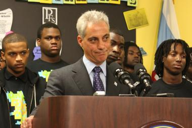 Mayor Rahm Emanuel took no sides in a clash between Ald. Joe Moore and Legislative Inspector General Faisal Khan, except to slight Khan by saying he hadn't even read the report.