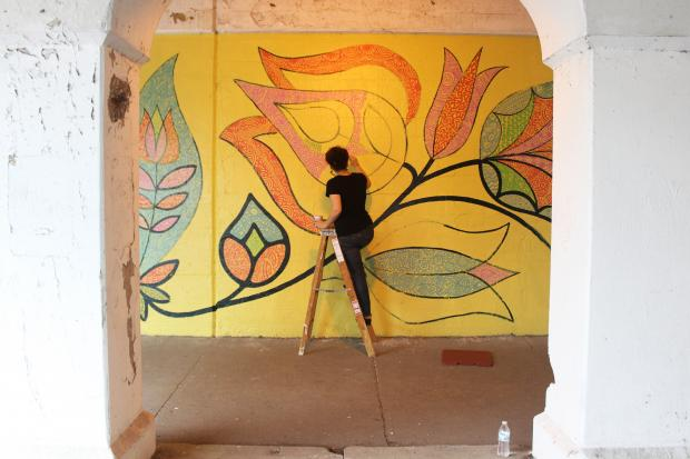 "In summer of 2013, eight new murals were installed at ""L"" underpasses throughout Rogers Park."