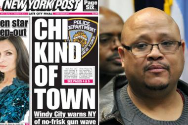The  New York Post  once again targeted Chicago violence on its front page Wednesday, speaking to Nathaniel Pendleton (right), the father of slain Chicago honor student Hadiya Pendleton.