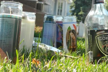 A memorial for Omar Castel is set up Friday at 36th Street and Marshfield Avenue in McKinley Park.