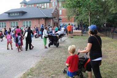 Parents at Ray Elementary School said they were excited to have seventh and eighth grades as an option starting this year at the Hyde Park school.