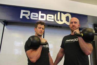 Ryan Steenrod (left) and Mike Connelly (right) own Rebell Conditioning, 2831 N. Clark St.