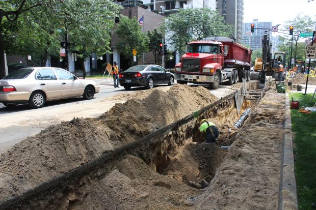 Crews replacing the century-old water mains will block traffic for at least a month.