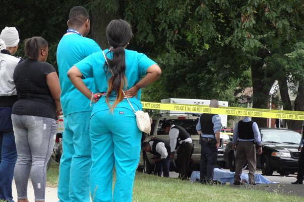 A man was shot dead in Chicago Lawn Monday afternoon.