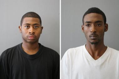 Terrence Snowden, 24, left, and Phillip Boyd, 23, are charged in the shooting death of Tyrone Hart, 18.