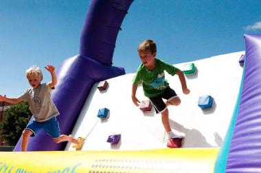 An inflatable obstacle course for kids will be returning to Wrigleyville SummerFest this year.