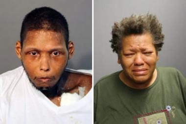 Andre Ford (l.) and his mother are charged in the slaying of his 8-year-old daughter Gizzell Ford, who prosecutors say was strangled and beaten to death in July.