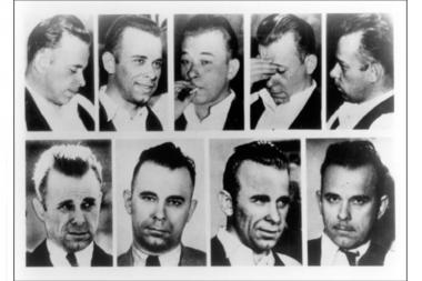 Legendary bank robber John Dillinger was reported to hang out at Club Biograph at 2462 N. Lincoln Ave.