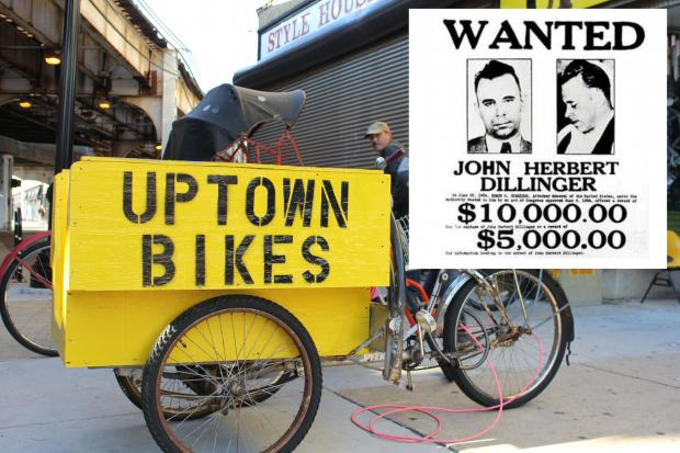 Bike Uptown will host a John Dillinger bike tour on Saturday, October 5, 2013.