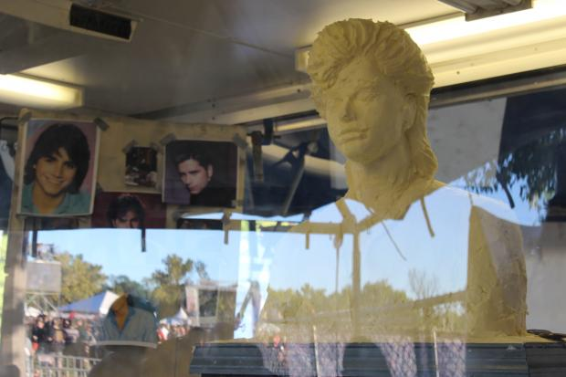 Jim Victor said John Stamos' famous hair is the inspiration behind Riot Fest's Butter Stamos statue.