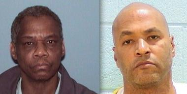 Carl Chatman (l.), convicted of sexual assault in 2004, and Latherial Boyd, who was convicted of murder in 1990, are being released from prison after an announcement by Cook County State's Attorney Anita Alvarez that charges against them were dismissed.