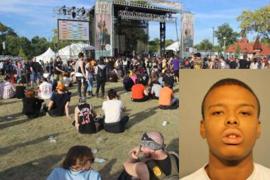 Devon Burnett, of the 1700 block of North Kedzie Avenue, was charged with felony robbery and theft after prosecutors say he tackled a teen at Riot Fest Saturday.