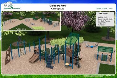 The chosen design for Goldberg Park