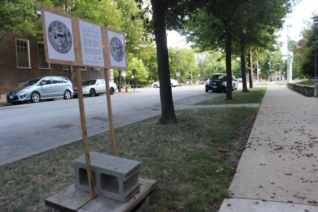 "An unknown prankster left an ""official"" note from Mayor Rahm Emanuel's office over a missing manhole cover in Hyde Park."