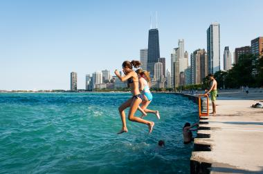 The Chicago Park District issued a swim ban at all of its beaches Tuesday due to water quality.