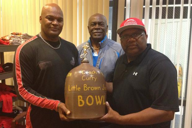 Robeson and Hubbard high school football teams will play for the Little Brown Jug at 4 p.m. Friday at Stagg Stadium.