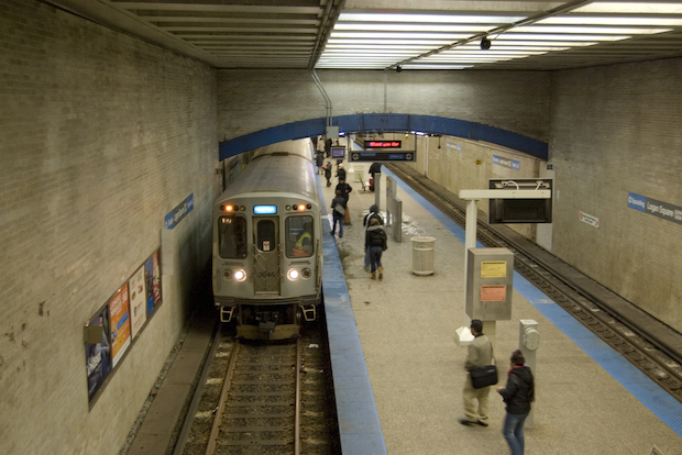 Service on the Blue line to O'Hare was temporarily suspended Thursday afternoon.