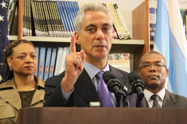 Mayor Rahm Emanuel said Chicago Public Schools have one goal: to prepare students to go on to college.