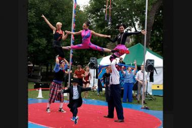 The Midnight Circus performs in Bucktown's Holstein Park this weekend.
