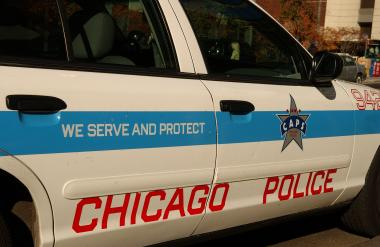 A 23-year-old man was shot while he was in a car near the Kennedy Expressway in West Town, police said.