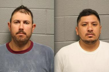 Two Portage Park men had been under surveillance by police when officers serving a warrant found several hundred pounds of pot, a gun and $36,000 in their homes early Monday morning.
