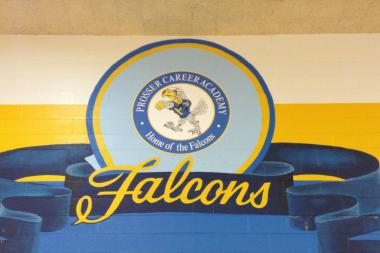 Prosser Career Academy, home of the Falcons, located in Belmont Cragin.