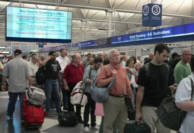 O'Hare canceled 240 flights and Midway canceled 175 flights Thursday afternoon.