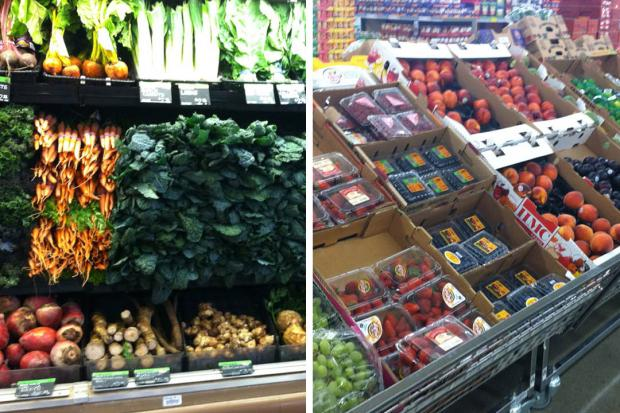 DNAinfo Chicago compared prices on basic food items in the Englewood Aldi, 620 W. 63rd St. — which sits just blocks from the proposed Whole Foods location — and a Near West Side Whole Foods Market, 1101 S. Canal St.