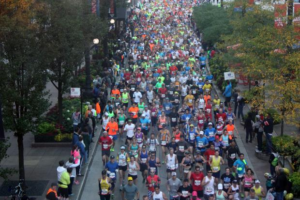 More than 45,000 people took part in the 2013 Chicago Marathon.