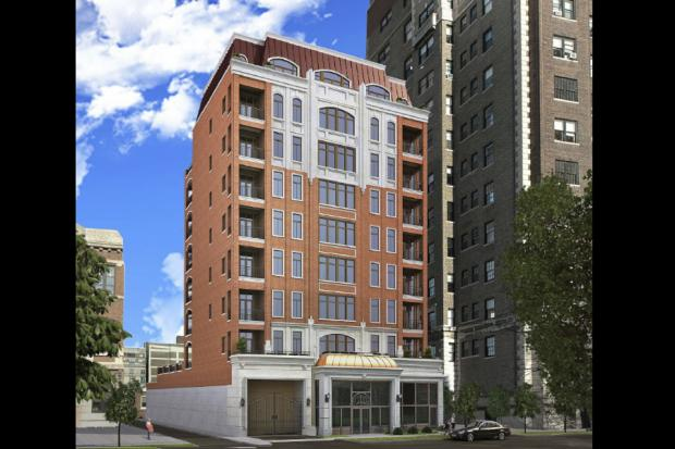 Plans for a rental building at 434 W. Melrose St.