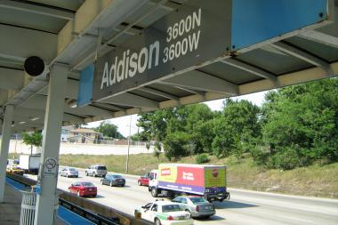 The Addison Blue Line station.