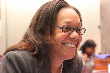 Ald. Leslie Hairston secured a fifth term as 5th Ward alderman on Tuesday night.