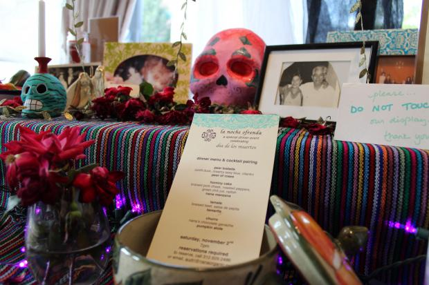 Guests of the restaurant's special dinner are asked to bring photos and mementos of their beloved dead.