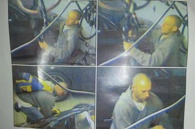 A man was captured on camera apparently stealing bikes from a garage in Old Irving Park.
