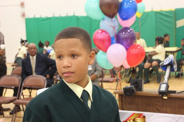 A citywide toy drive was launched Friday, Oct. 18, 2013 by Samuel Love, a fourth grader at Beasley Elementary School.