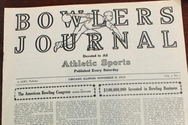 The first edition of Bowlers Journal was printed on Nov. 8, 1913.