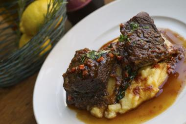 Braised beef short rib over polenta at Azzurra, opening Tuesday at 1467 N. Milwaukee Ave. in Wicker Park.