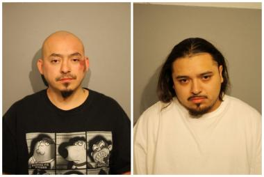 Daniel Delgado, 31, (l.) and Hector Moreno, 24, are accused of attacking a Chicago Fire Department paramedic.