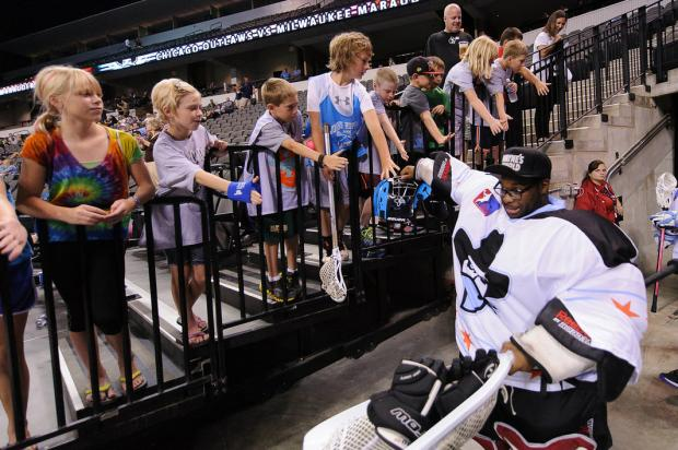 Bronzeville resident Desmond Bailey is a goaltender for the Chicago Outlaws professional indoor lacrosse team.