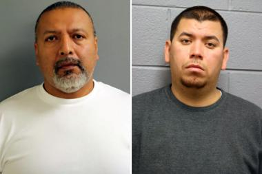 Eduardo Magana-Solano (l.), 48, of the 3800 block of West 71st Street, and Braulio Saucedo, 28, of Kingser, Calif., both were charged with a felony count of possession of more than 5,000 grams of weed.