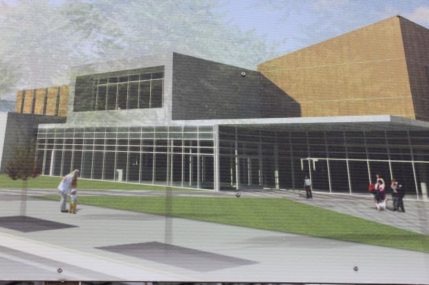 The Jesse White Fieldhouse is under construction at 412 W. Chicago Ave. and is expected to be completed July 2014.