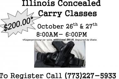 Don Haworth's weekend class will train students in how to get their Illinois concealed-carry license.