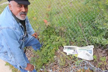 Sel Dunlap, a community activist, said he's fighting to keep neighborhoods clean.