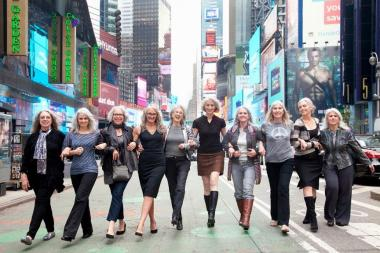 The Silver Sisters strut at last year's event in Times Square, showcasing their gray locks with pride.