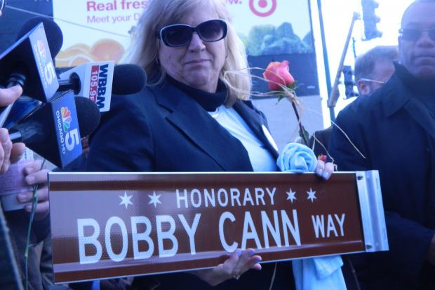 A portion of Clybourn Avenue was dedicatedto cyclist Bobby Cann, killed in a traffic accident.
