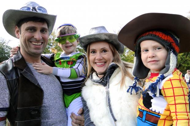 The entire Iannantuomo family got dressed up for Halloween in Wicker Park a few years ago.