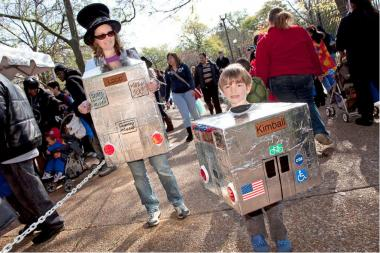 Trick-or-treaters at last year's event at the Lincoln Park zoo.