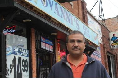 Gabriel Guzman, owner of Giovanni's Liquors, is calling for more police patrols on West 26th Street in Little Village and says crime has gotten worse in the past couple years, but other business owners say the area has improved.